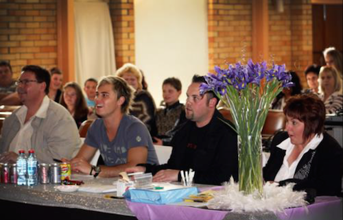 Marius Lourens, Bobby van Jaarsveld and Kobus Smal at the 2010 Vocal Eisteddfod