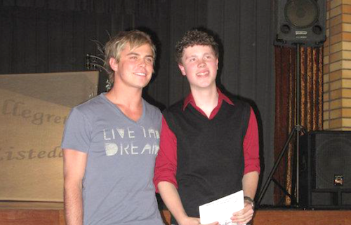 Bobby van Jaarsveld and Alexander Lubbers at 2010 Vocal Eisteddfod